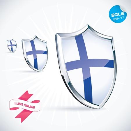 I Love Finland Flag Illustration