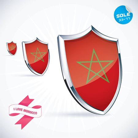 I Love Morocco Flag Illustration Stock Vector - 17744482