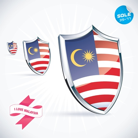 I Love Malaysia Flag Illustration Stock Vector - 17744444