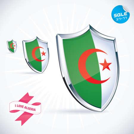 algerian flag: I Love Algeria Flag Illustration Illustration