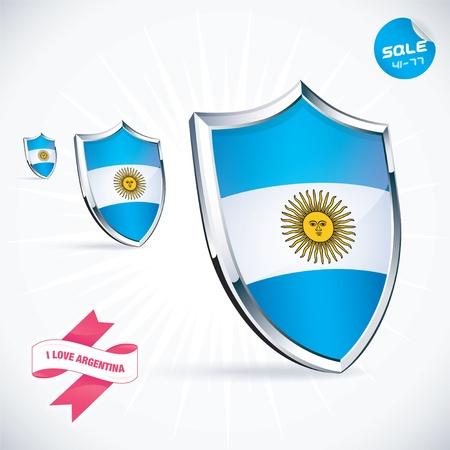bandera argentina: Amo la bandera de la Argentina