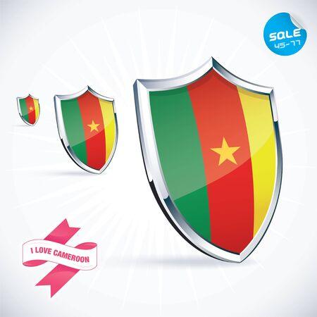 cameroon: I Love Cameroon Flag Illustration
