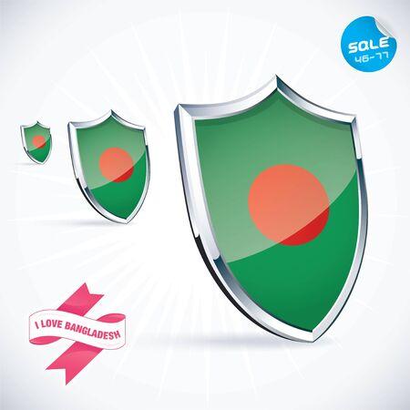 bangladesh 3d: I Love Bangladesh Flag Illustration