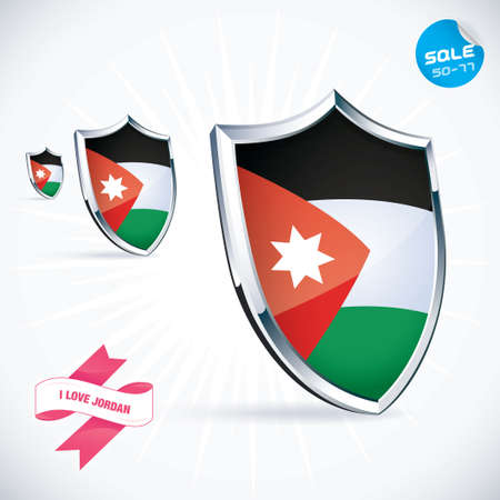 I Love Jordan Flag  Vector