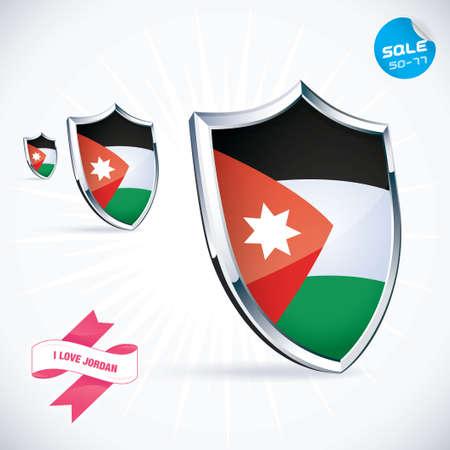 jordanian: Ik houd van Jordanië Vlag Stock Illustratie