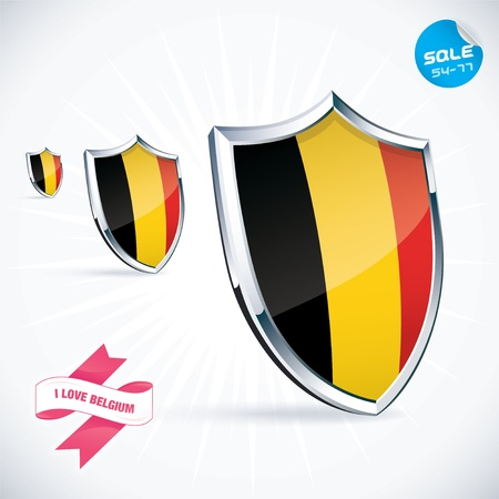 I Love Belgium Flag Illustration Stock Vector - 17744422