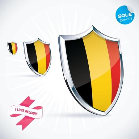 I Love Belgium Flag Illustration Stock Vector - 17744422