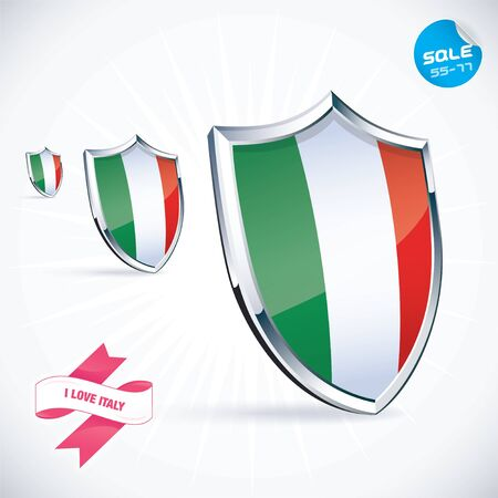 I Love Italy Flag Illustration Stock Vector - 17744436