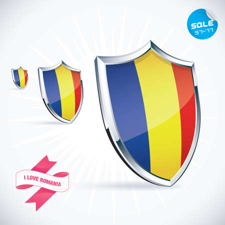 I Love Romania Flag Illustration Vector