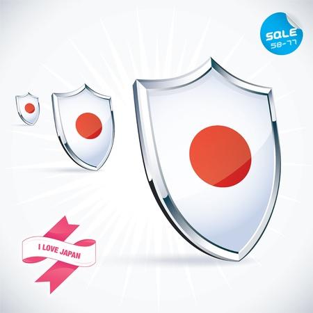 I Love Japan Flag IllustrationPeople Stock Vector - 17744434