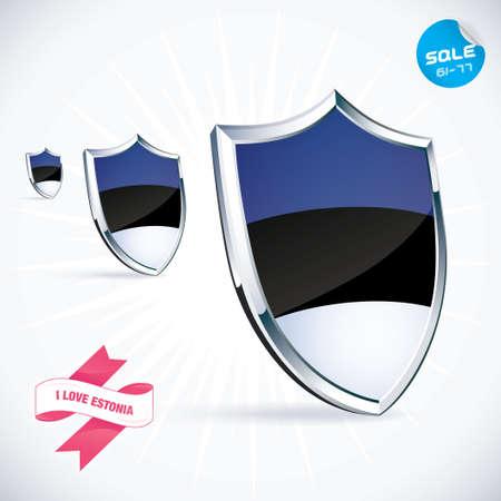 I Love Estonia Flag Illustration Vector