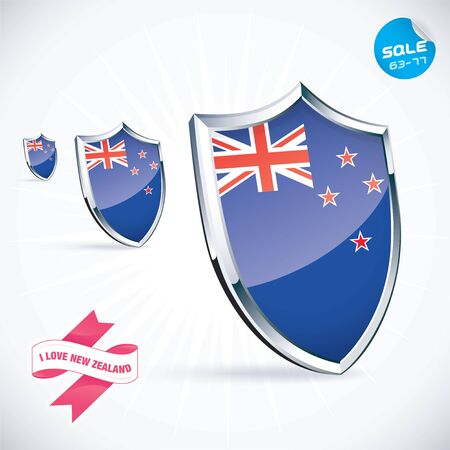 I Love New Zealand Flag Illustration Stock Vector - 17744480