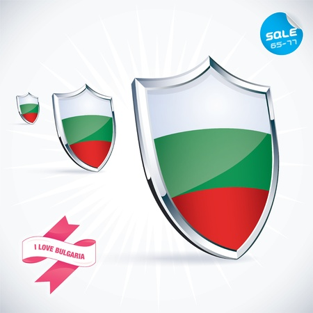 I Love Bulgaria Flag Illustration Vector