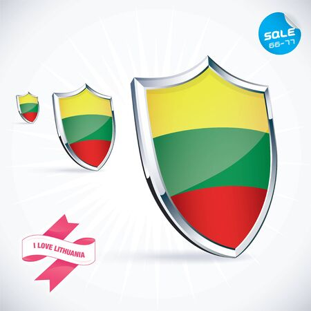lithuanian: I Love Lithuania Flag Illustration