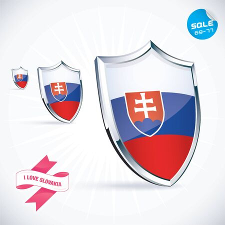 I Love Slovakia Flag Illustration Stock Vector - 17744744