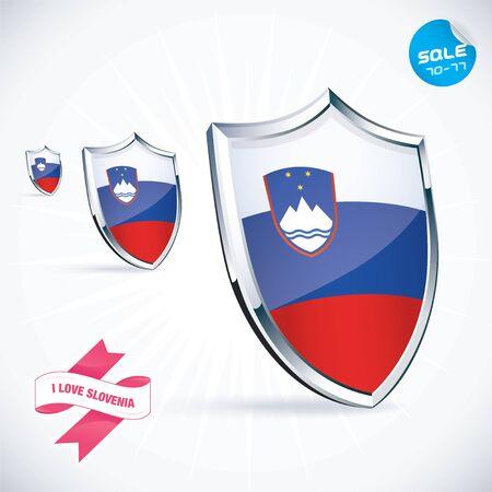 slovenia: I Love Slovenia Flag Illustration