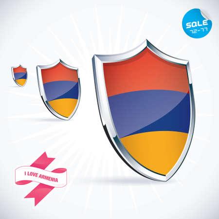 I Love Armenia Flag Illustration Stock Vector - 17744848