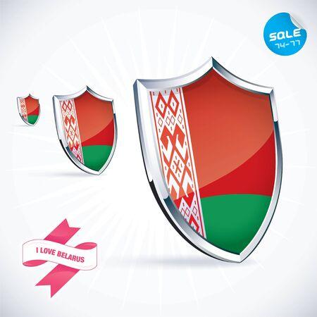 I Love Belarus Flag Illustration Vector