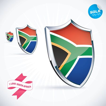I Love South Africa Flag  Stock Vector - 17744843