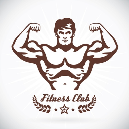 Bodybuilder Fitness Model Illustration Stock Vector - 17744446