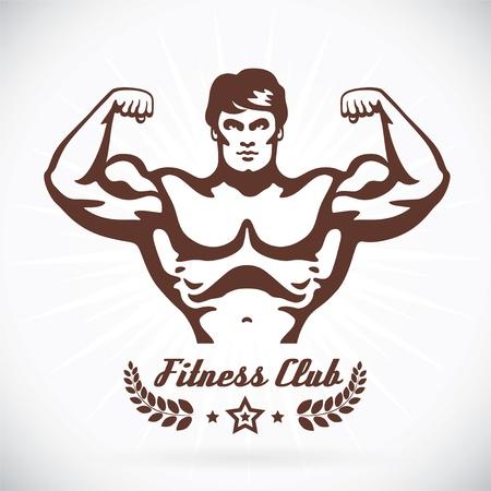 testépítő: Testépítő Fitness Modell Illusztráció