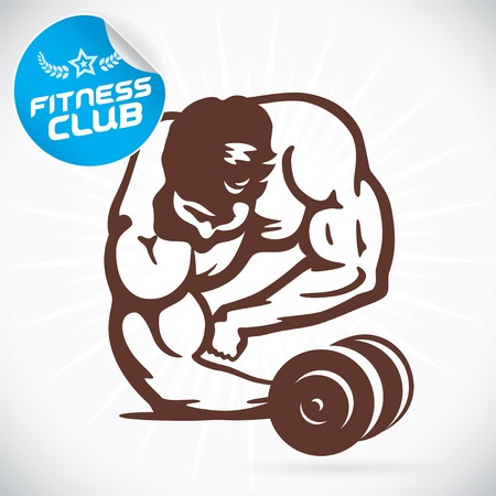 Bodybuilder Fitness Model Illustration Stock Vector - 17744470