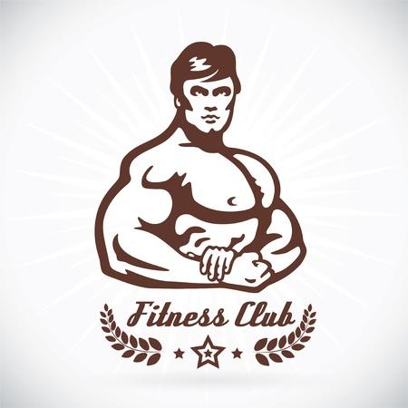 musculo: Gimnasio Bodybuilder Modelo Ilustraci�n