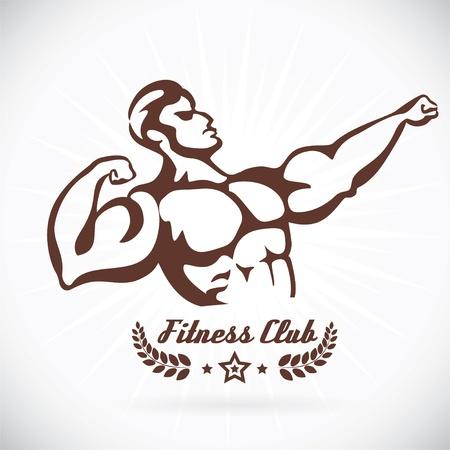 hierro: Gimnasio Bodybuilder Modelo Ilustración