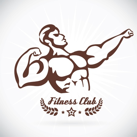 Kroppsbyggare Fitness Model Illustration