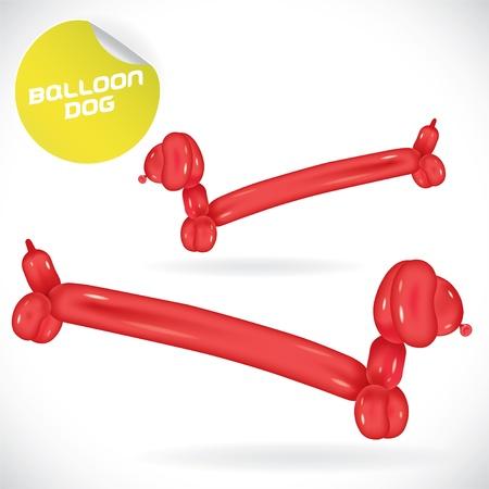 Glossy Balloon Dog Illustration