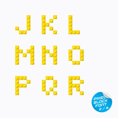 Unique Pixel Block Alphabet, Letters, Illustration, Sign, Icon, Symbol for Baby, Family, Education Illustration