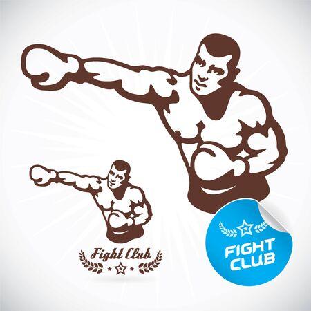 boxer: Boxer Modelo Fitness ejemplo, muestra, s�mbolo, bot�n, insignia, icono, logotipo de la Familia, del beb�, ni�os, adolescente, gente, Tattoo