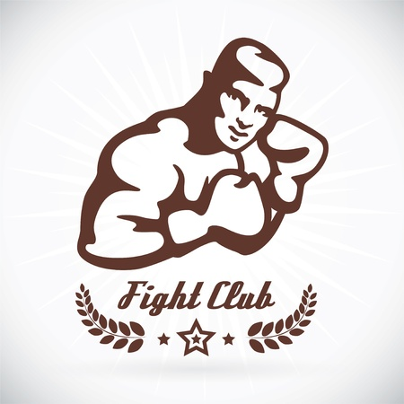 fitness logo: Boxer Fitness Model Illustration, Sign, Symbol, Button, Badge, Icon, Logo for Family, Baby, Children, Teenager, People, Tattoo