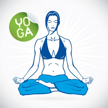 positions: Yoga Fitness Model Illustration, Sign, Symbol, Button, Badge, Icon, Logo for Family, Baby, Children, Teenager, People, SPA