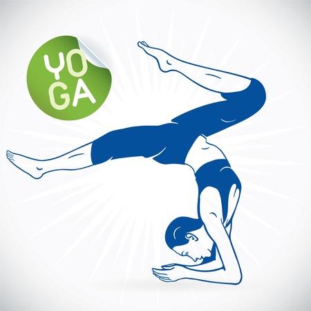 abdominal exercise: Yoga Fitness Model Illustration