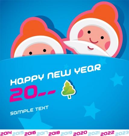 Merry Christmas, Santa Claus, New year 2014, 2015, 2016, 2017, 2018, 2019, 2020, 2021, 2022, 2023 Card, Badge, Icon, Symbol Stock Vector - 20423431