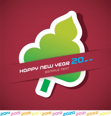 Modern Merry Christmas, New year 2014, 2015, 2016, 2017, 2018, 2019, 2020, 2021, 2022, 2023 Card, Badge, Icon, Symbol Vector