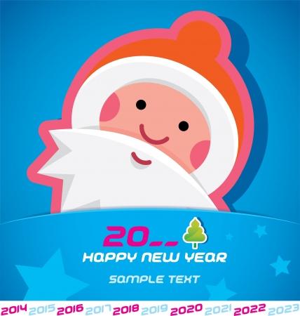 Merry Christmas, Santa Claus, New year 2014, 2015, 2016, 2017, 2018, 2019, 2020, 2021, 2022, 2023 Card, Badge, Icon, Symbol Stock Vector - 20423415