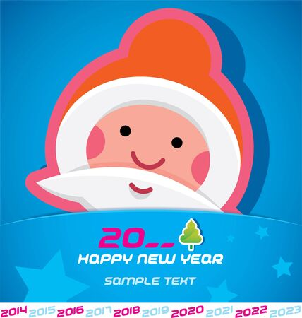 Merry Christmas, Santa Claus, New year 2014, 2015, 2016, 2017, 2018, 2019, 2020, 2021, 2022, 2023 Card, Badge, Icon, Symbol Stock Vector - 20423424