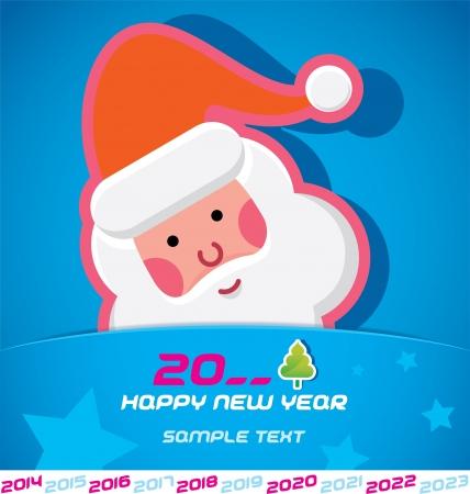 Merry Christmas, Santa Claus, New year 2014, 2015, 2016, 2017, 2018, 2019, 2020, 2021, 2022, 2023 Card, Badge, Icon, Symbol Stock Vector - 20423418