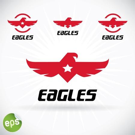 Eagle Symbol Illustration With Sticker Illustration