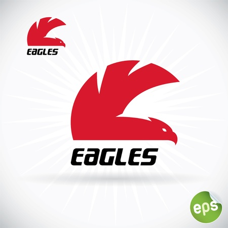 eagle head: Eagle Symbol Illustration With Sticker Illustration