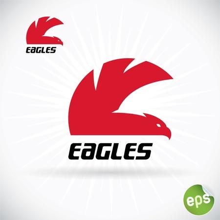 flying eagle: Eagle Symbol Illustration With Sticker Illustration