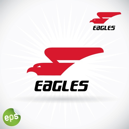 eagle symbol: Eagle Symbol Illustration With Sticker Illustration