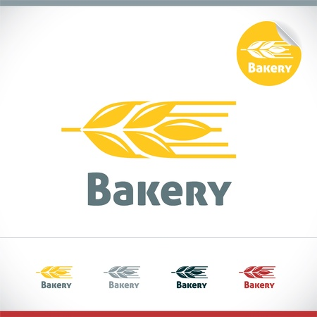 rye bread: Bakery Icon Illustration With Sticker