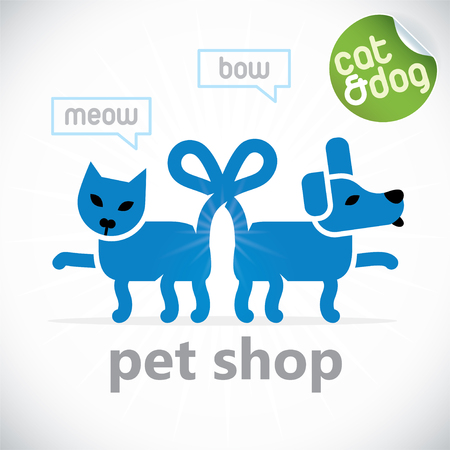 Pet Shop Illustration, Sign, Symbol, Button, Badge, Icon, Logo Vector
