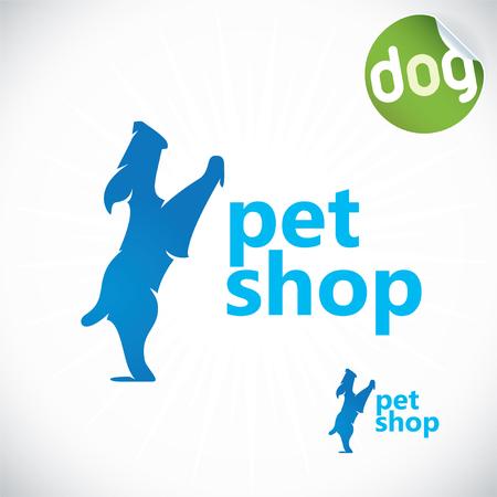 Pet Shop Illustration, Sign, Symbol, Button, Badge, Icon, Logo Vector