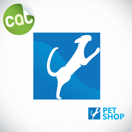 Pet Shop Illustration, Sign, Symbol, Button, Badge, Icon, Logo Stock Vector - 22497288