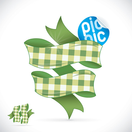 Picnic Sign Illustration, Sign, Symbol, Button, Badge, Icon, Logo, Sticker Vector