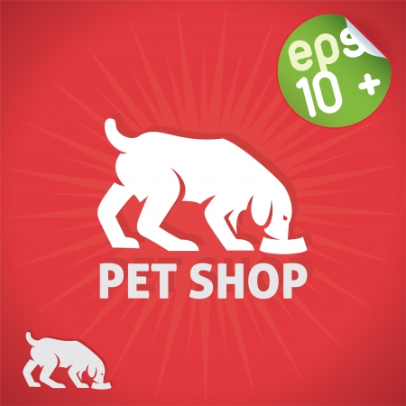 Pet Shop Illustration, Sign, Symbol, Button, Badge, Icon, Logo